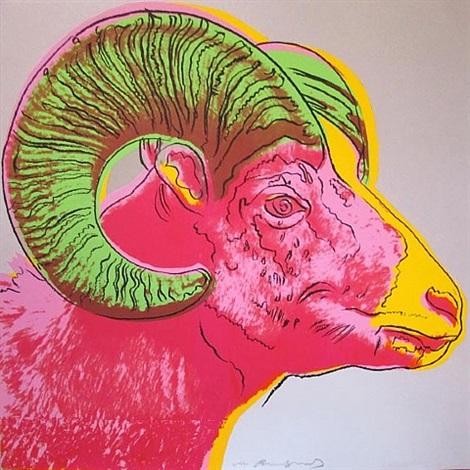 bighorn ram, [iib.302] by andy warhol